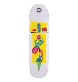 Welcome Skateboards Obelus on Son of Planchette White/Yellow 8.38""