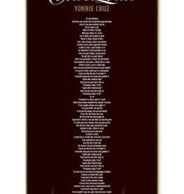 "Chocolate Skateboards Cruz Liner Notes 8.125"""