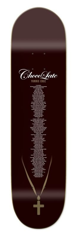 Chocolate Skateboards Cruz Liner Notes 8.125""