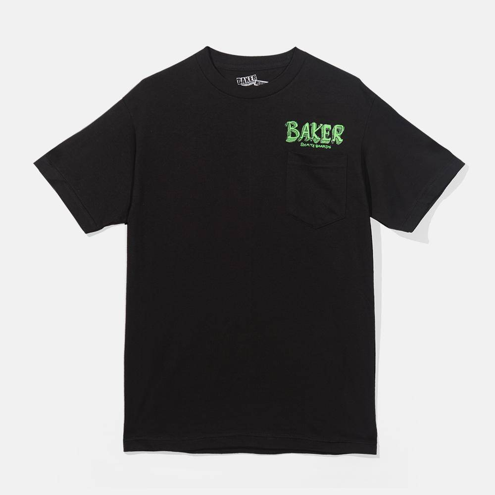 Baker Skateboards Fish Talk Pocket Black Tee
