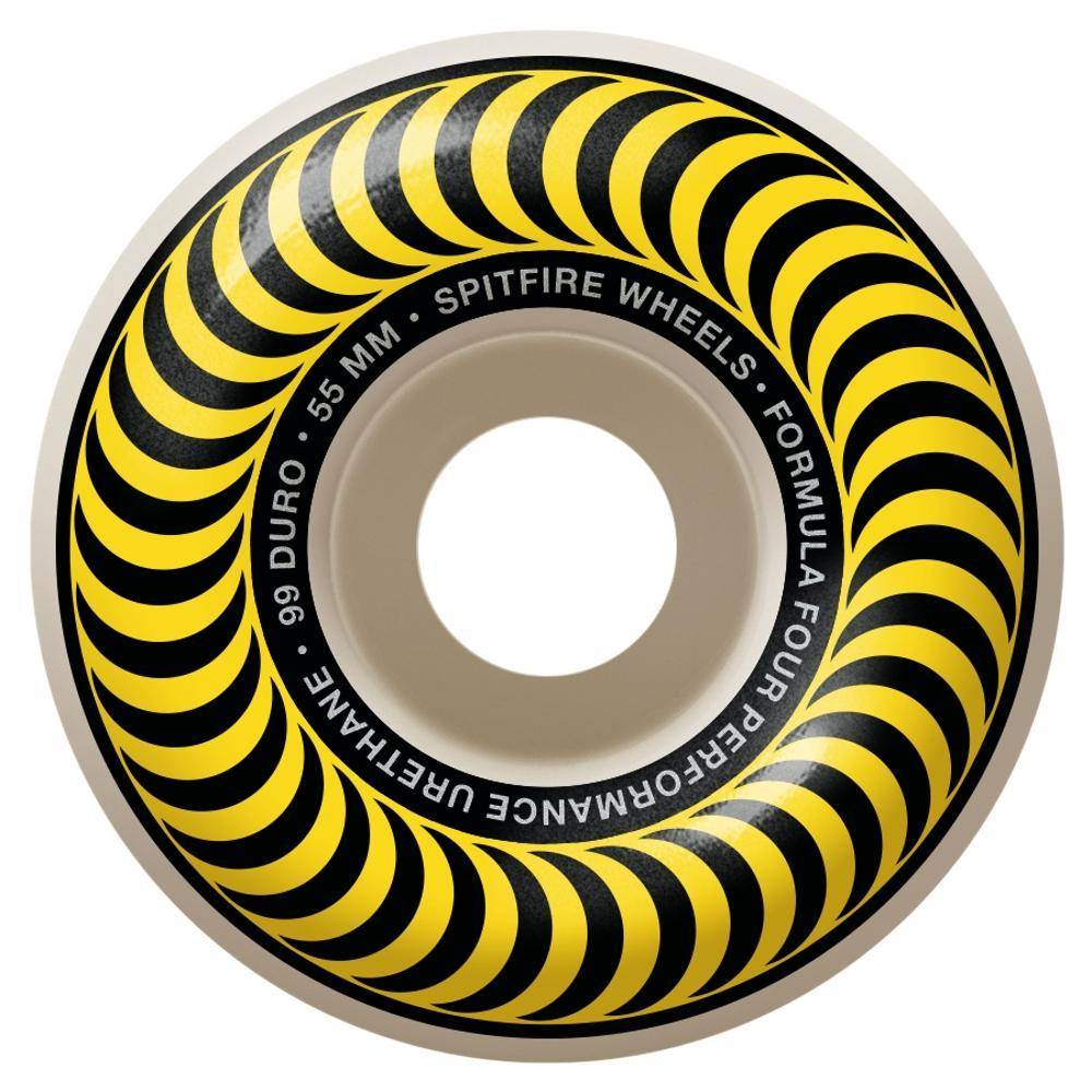 Spitfire Wheels Spitfire F4 99d Classic Yellow 55mm