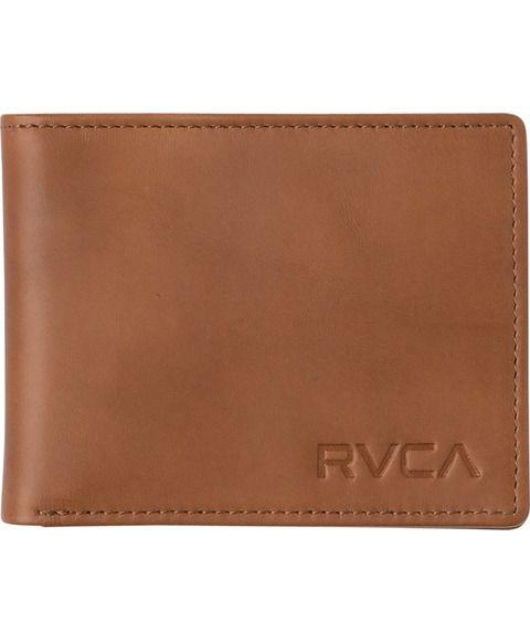 RVCA Crest Bifold Wallet Tan