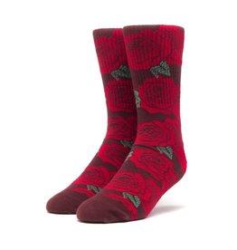 HUF Rosette Socks Red