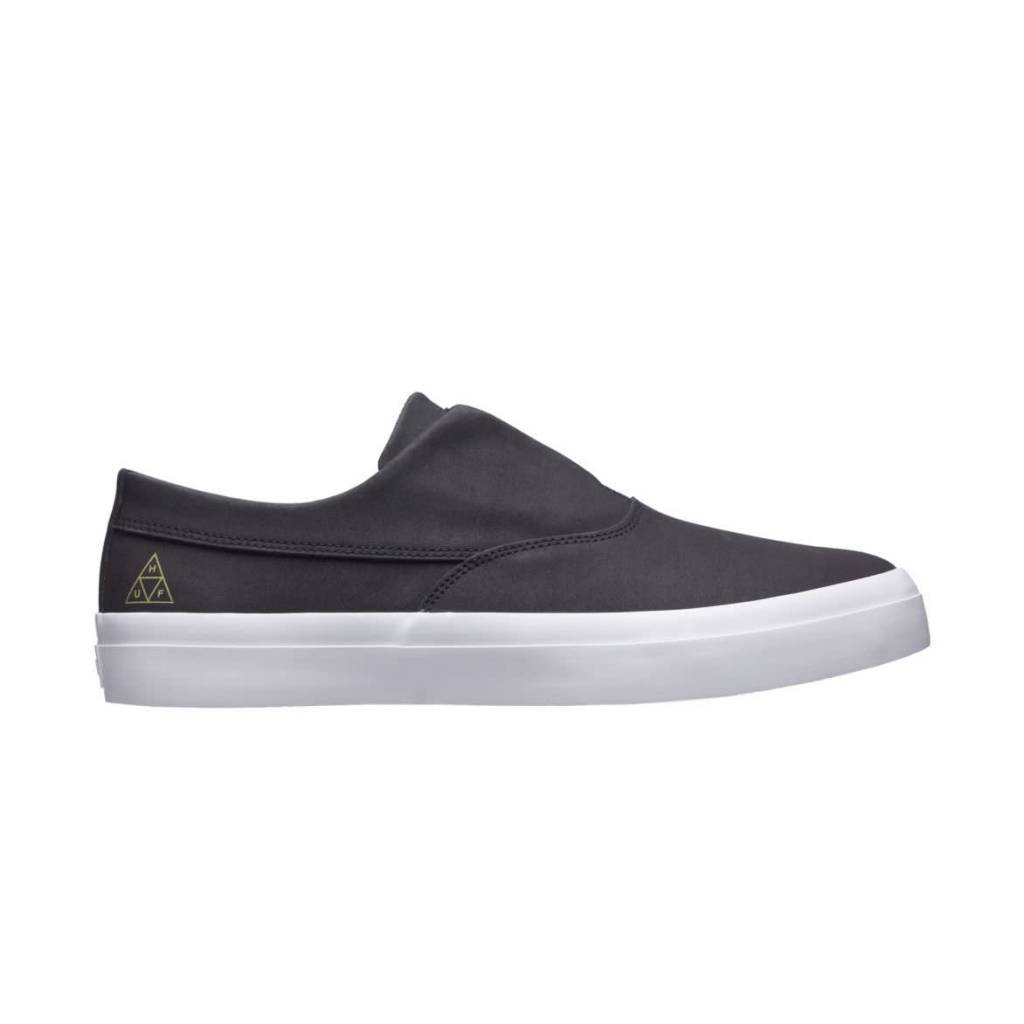 HUF Dylan Slip On Black Leather/ White