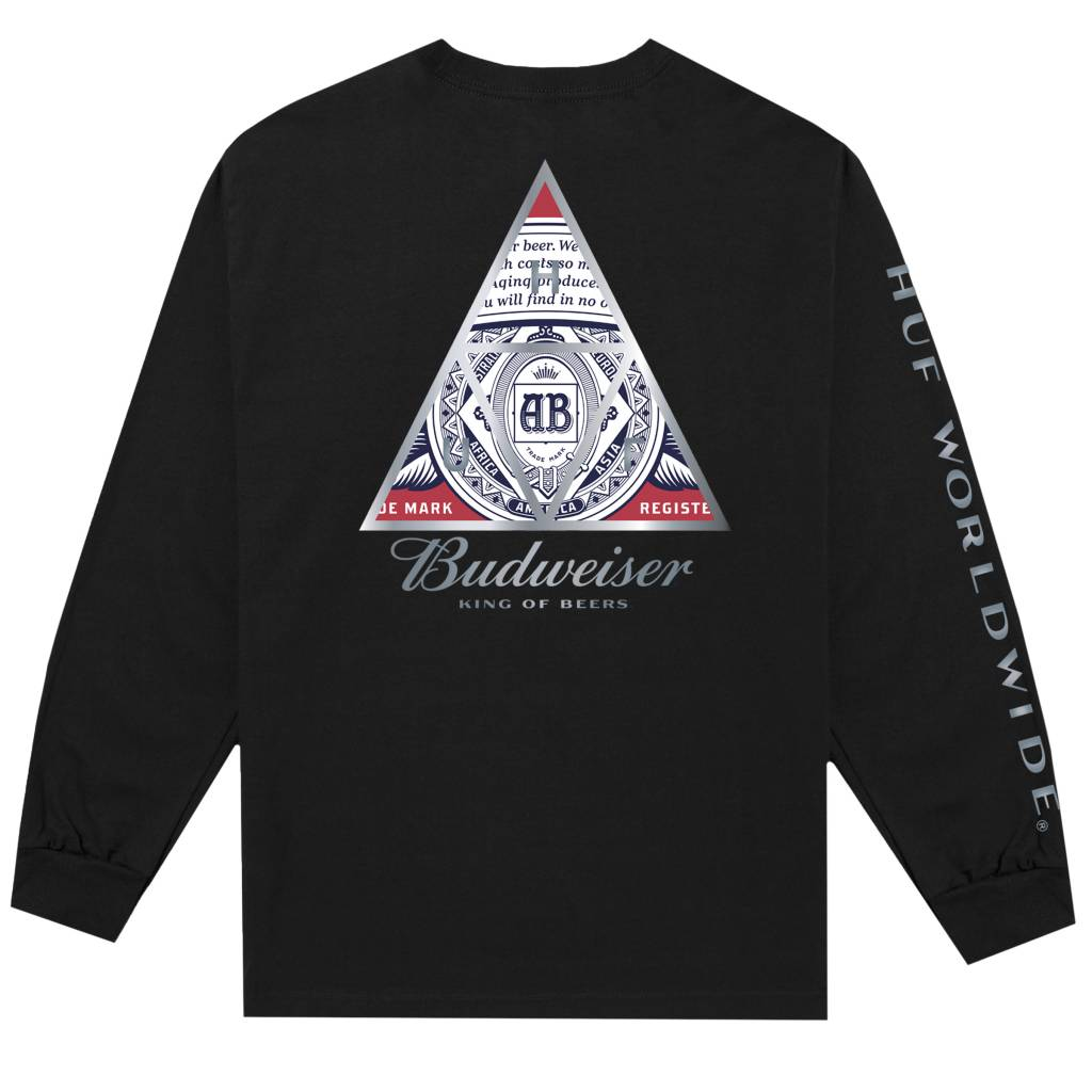HUF Budweiser Triangle L/S Tee Black