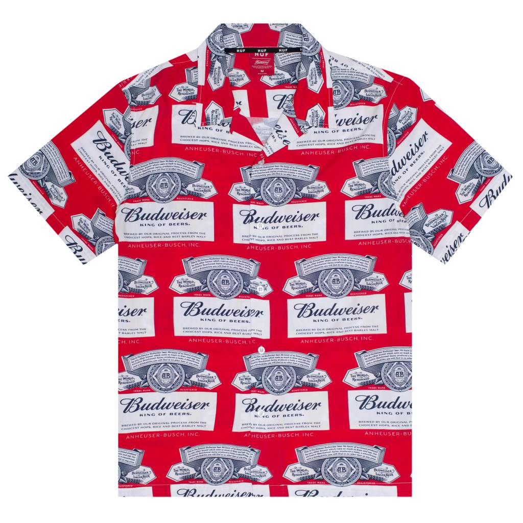 HUF Budweiser Label S/S Red