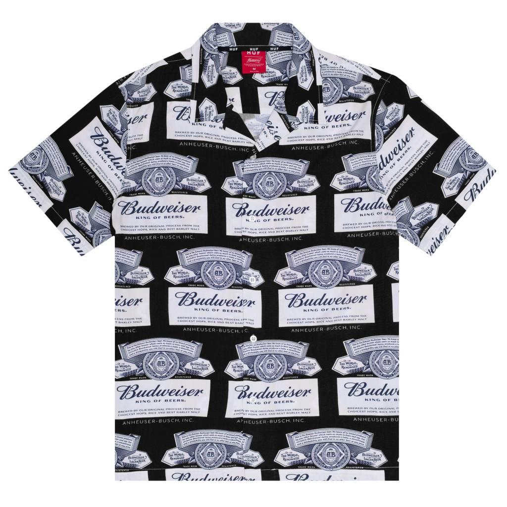 HUF Budweiser Label S/S Black
