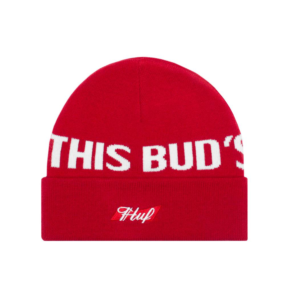 HUF Buds For You Beanie Red