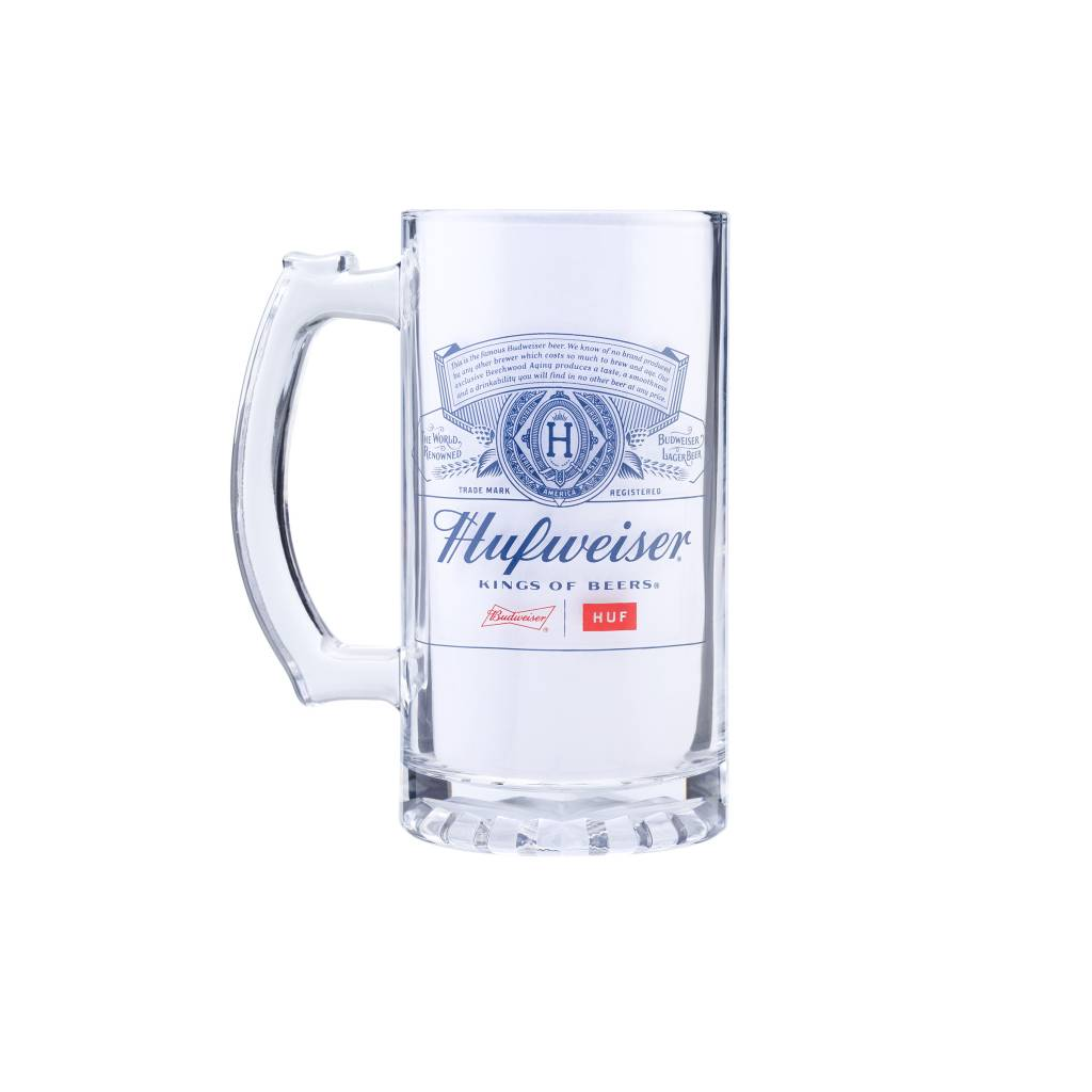 HUF Budweiser Beer Mug Clear