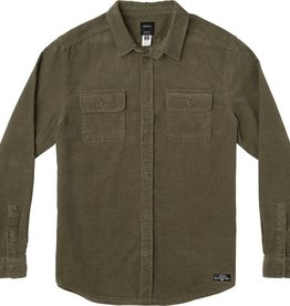 RVCA Campbell Cord L/S Olive