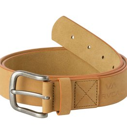 RVCA Truce Leather Belt Tan S/M
