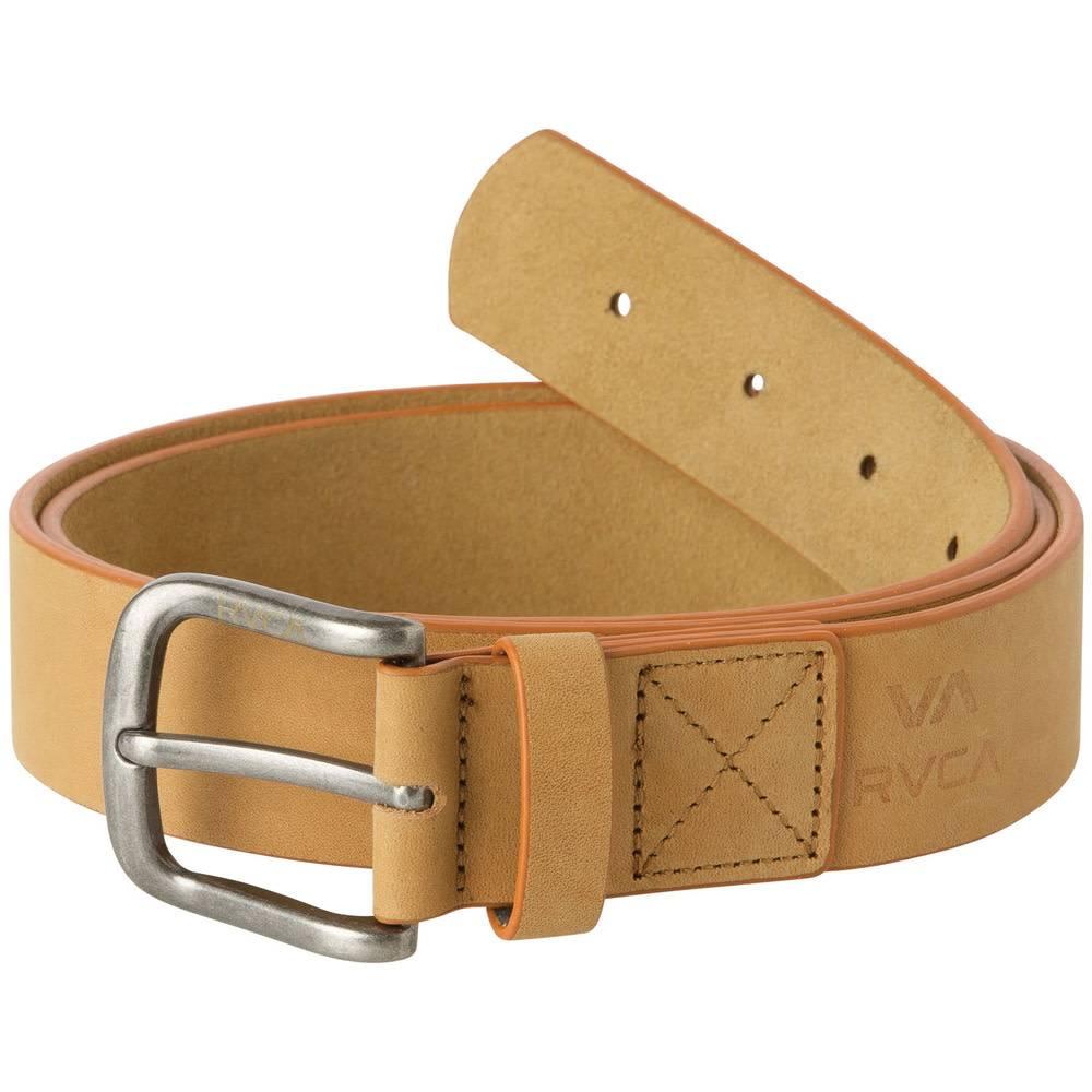 RVCA Truce Leather Belt Tan L/XL