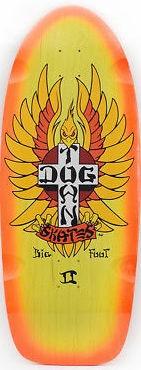 """Dogtown Big Foot II Rider 11.875"""" Yellow/Orange Fade"""