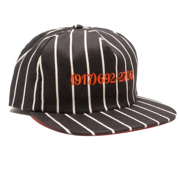 CallMe917 Dailtone Stripe Hat Black/Orange