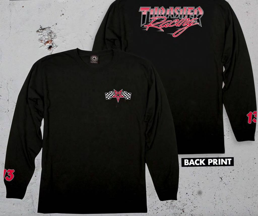 Thrasher Mag. Racing L/S Black