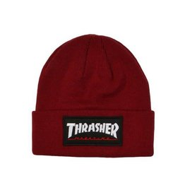 Thrasher Mag. Logo Patch Beanie Maroon