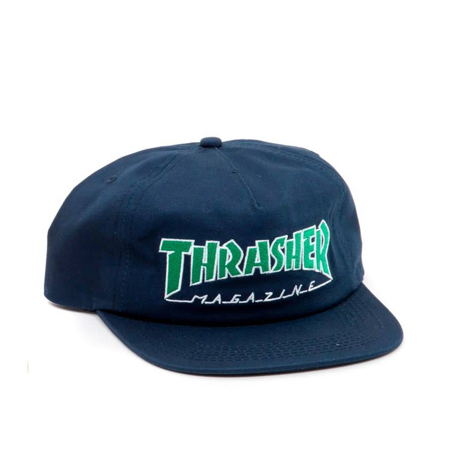 Thrasher Mag. Outlined Snapback Navy