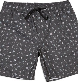 RVCA Shattered Elastic Trunk Grey Floral