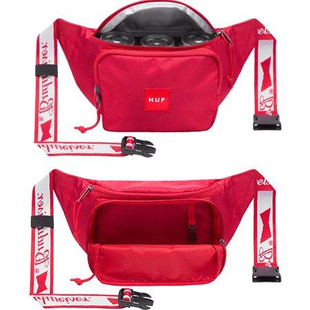 HUF Budweiser Cooler Side Bag Red