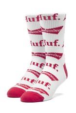 HUF Budweiser Bow Crew Sock White