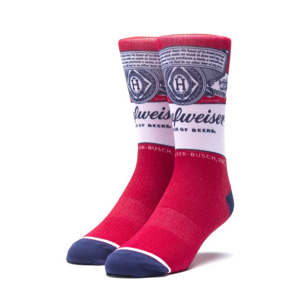 HUF Buds For You Crew Sock Red