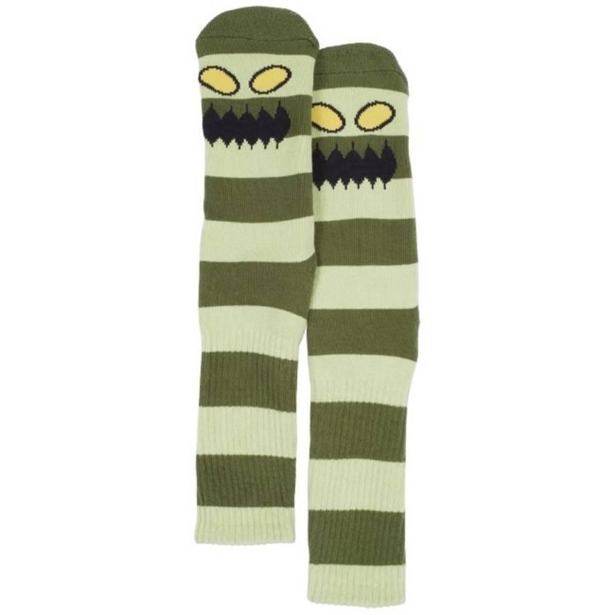 Toy Machine Monster Big Stripe Green Sock