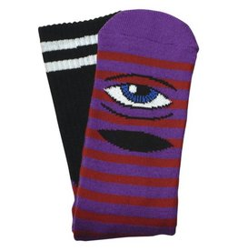 Toy Machine Sect Eye Stripe Purple/Orange Sock