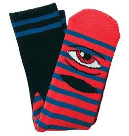 Toy Machine Sect Eye Stripe Red/Blue Sock
