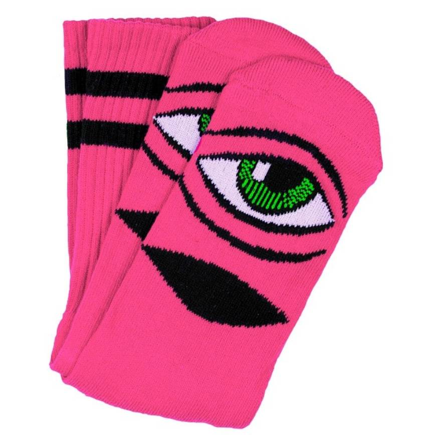 Toy Machine Sect Eye Sock Neon Pink