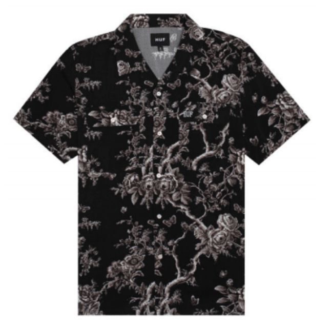HUF Highline Woven Shirt Black