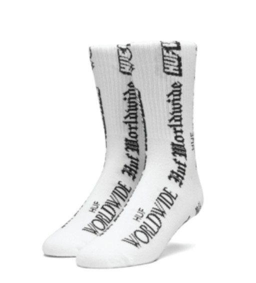 HUF Fake News Sock White