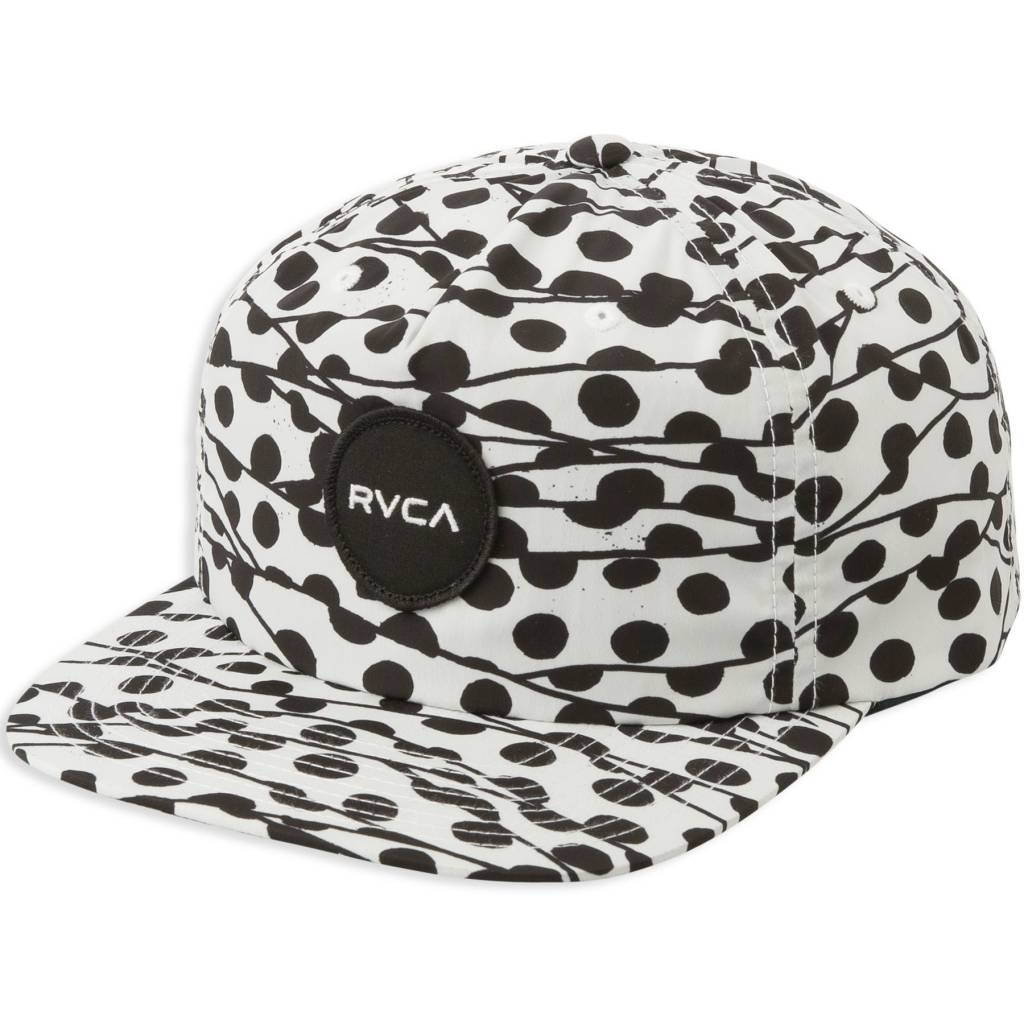 RVCA Printed Cap Black/White