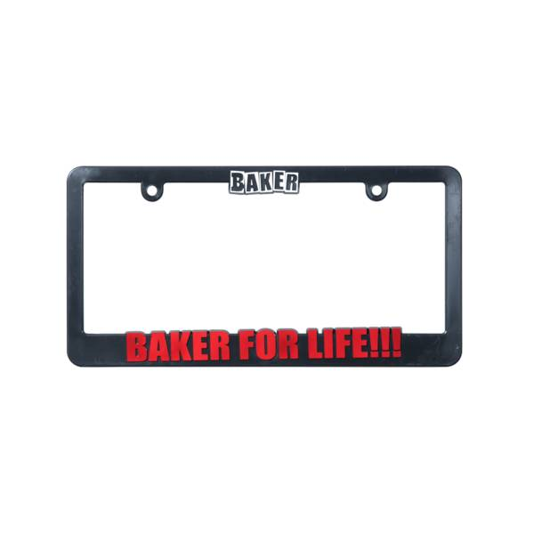 Baker Skateboards Baker For Life License Plate