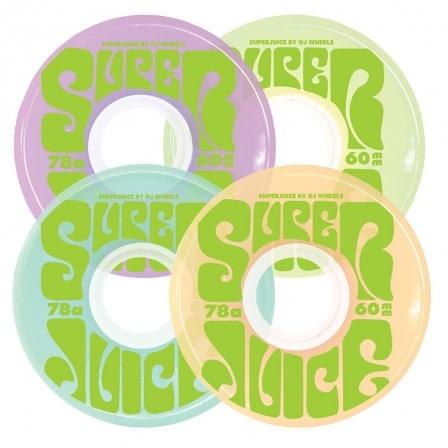 OJ Wheels Super Juice Trans Pastel Mix 78a 60mm