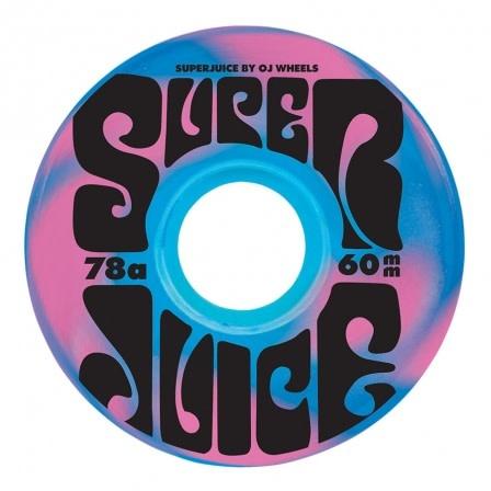 OJ Wheels Super Juice Blue/Pink Swirl 78a 60mm