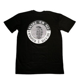 APB Skateshop APB Snake Em All Tee Black Large