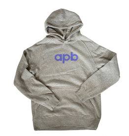 APB Skateshop APB Logo Grey w/ Purple Hoodie