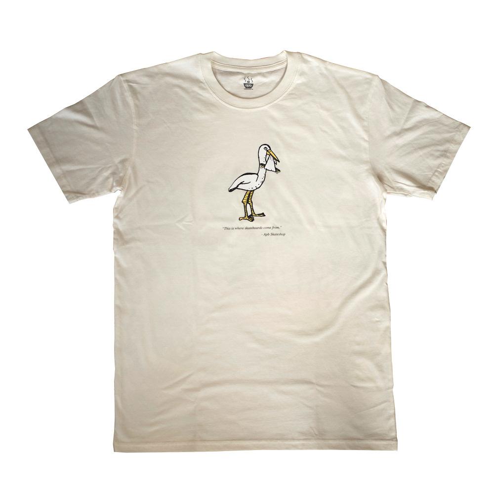 APB Skateshop APB Stork Cream Tee