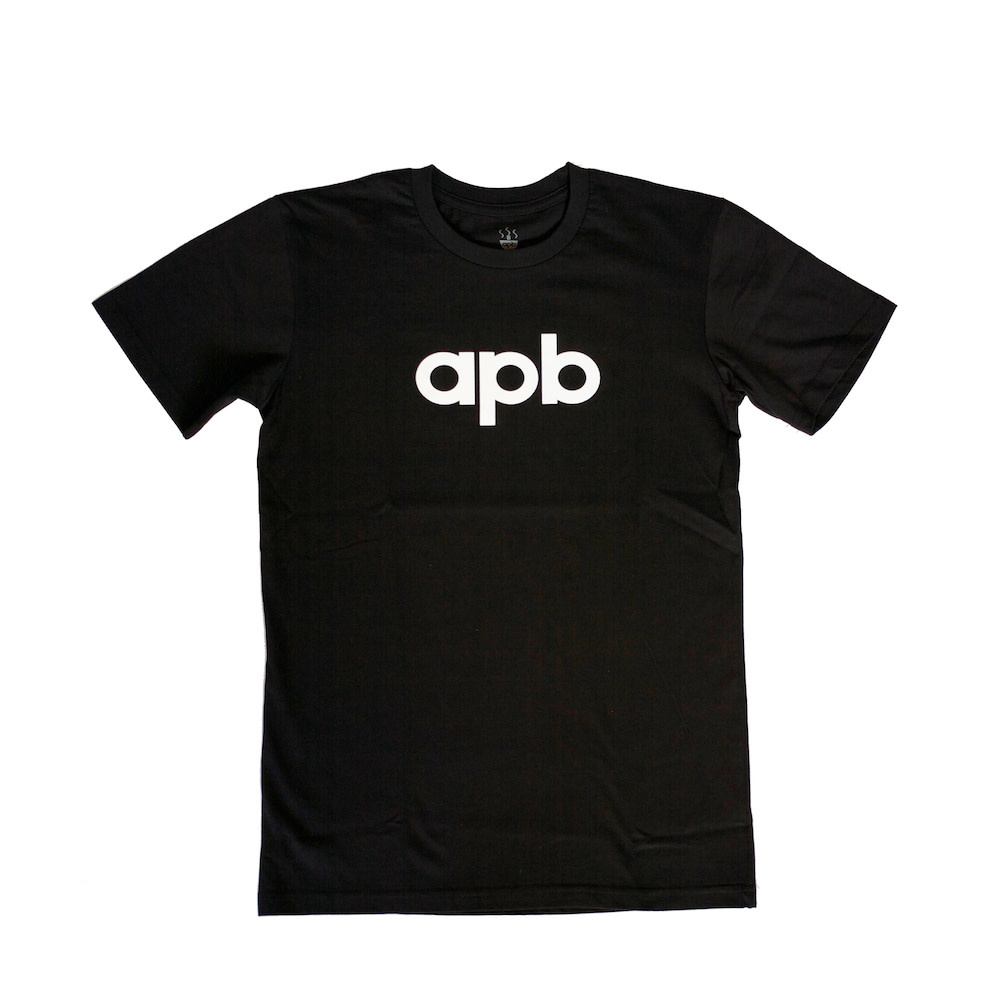APB Skateshop APB Logo Youth Black w/ White Tee
