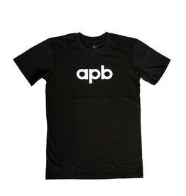 APB Skateshop APB Logo Tee Black w/White