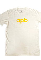APB Skateshop APB Logo Tee Cream w/Gold