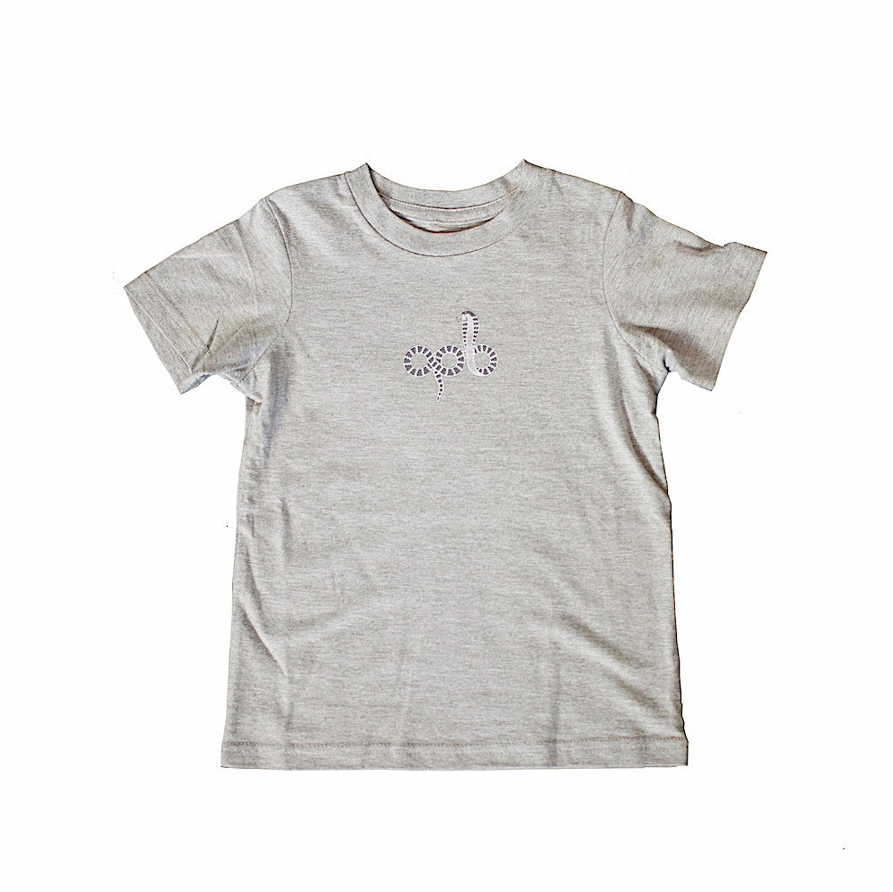 APB Skateshop Snake Em All Toddler Heather Grey Tee