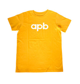 APB Skateshop APB Logo Youth Gold w/ White Tee
