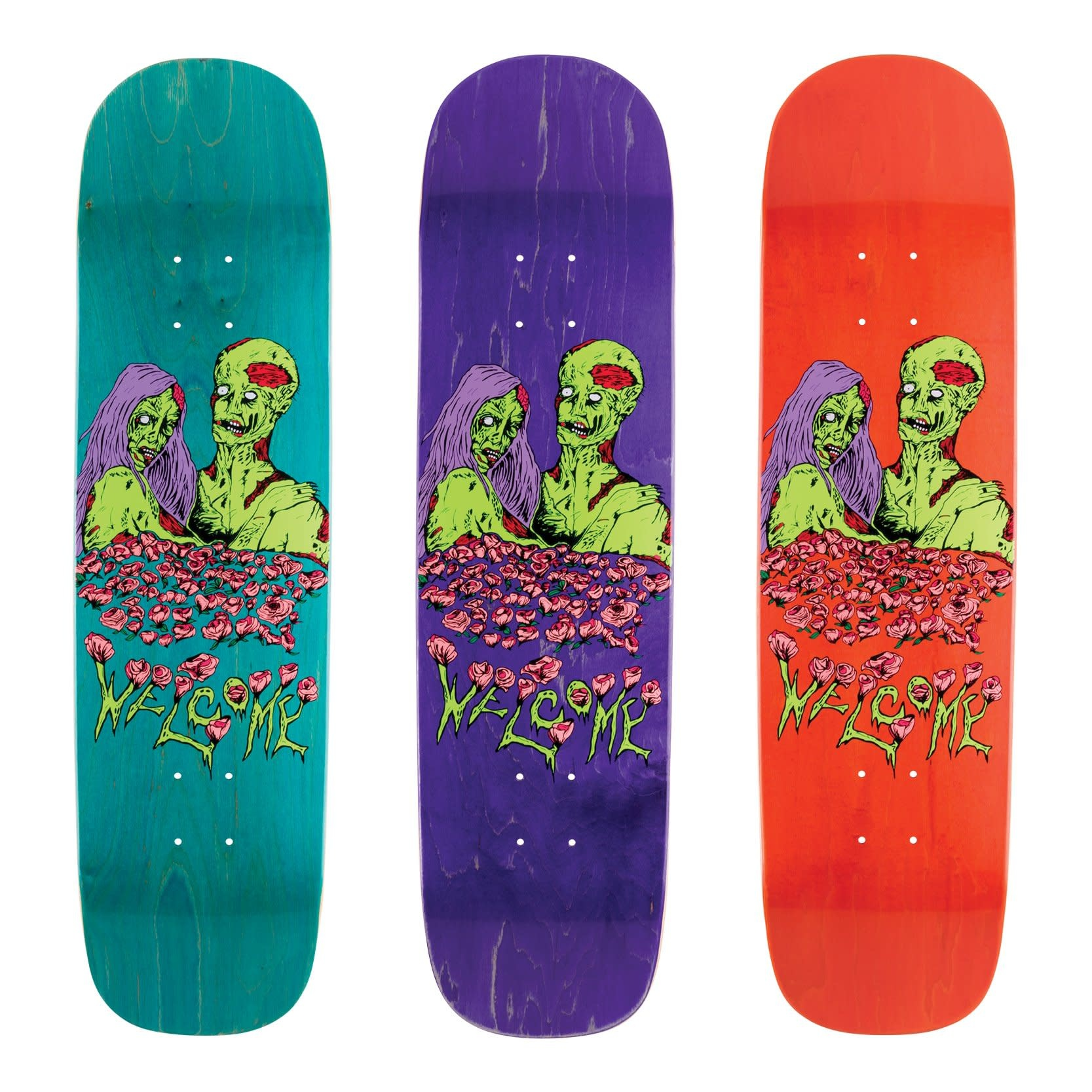 Welcome Skateboards Zombie Love on Yung Nibiru Various Stains 8.25""