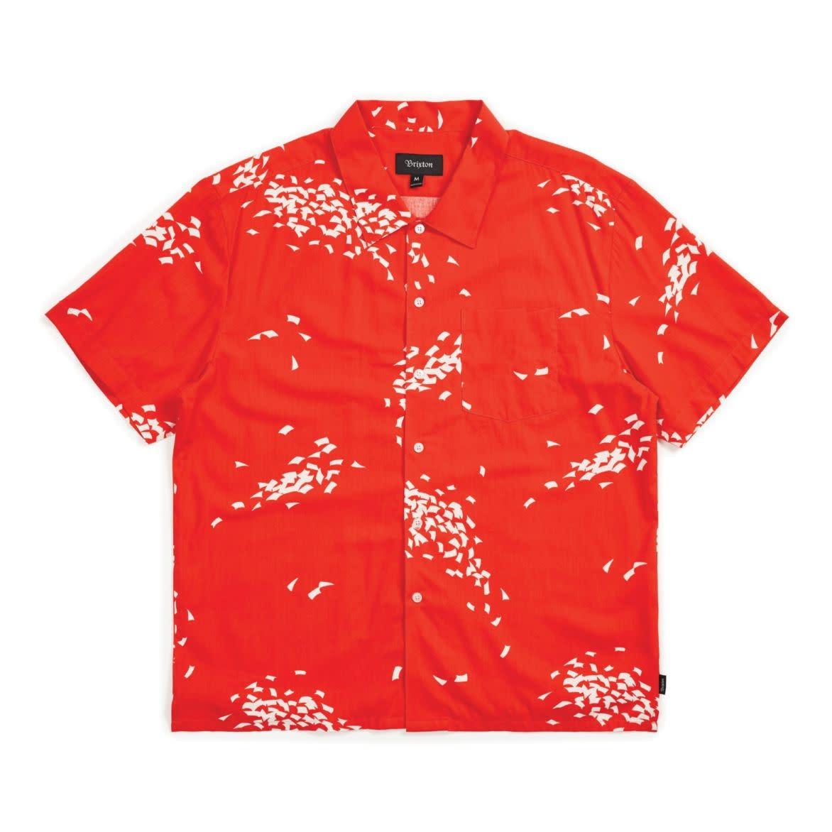 Brixton Lovitz S/S Woven Red/White