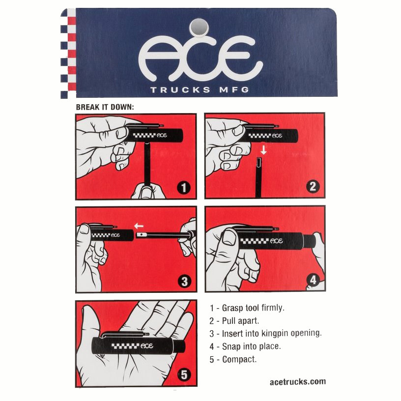 Ace Skateboard Truck MFG. Ace Classic Skate Tool