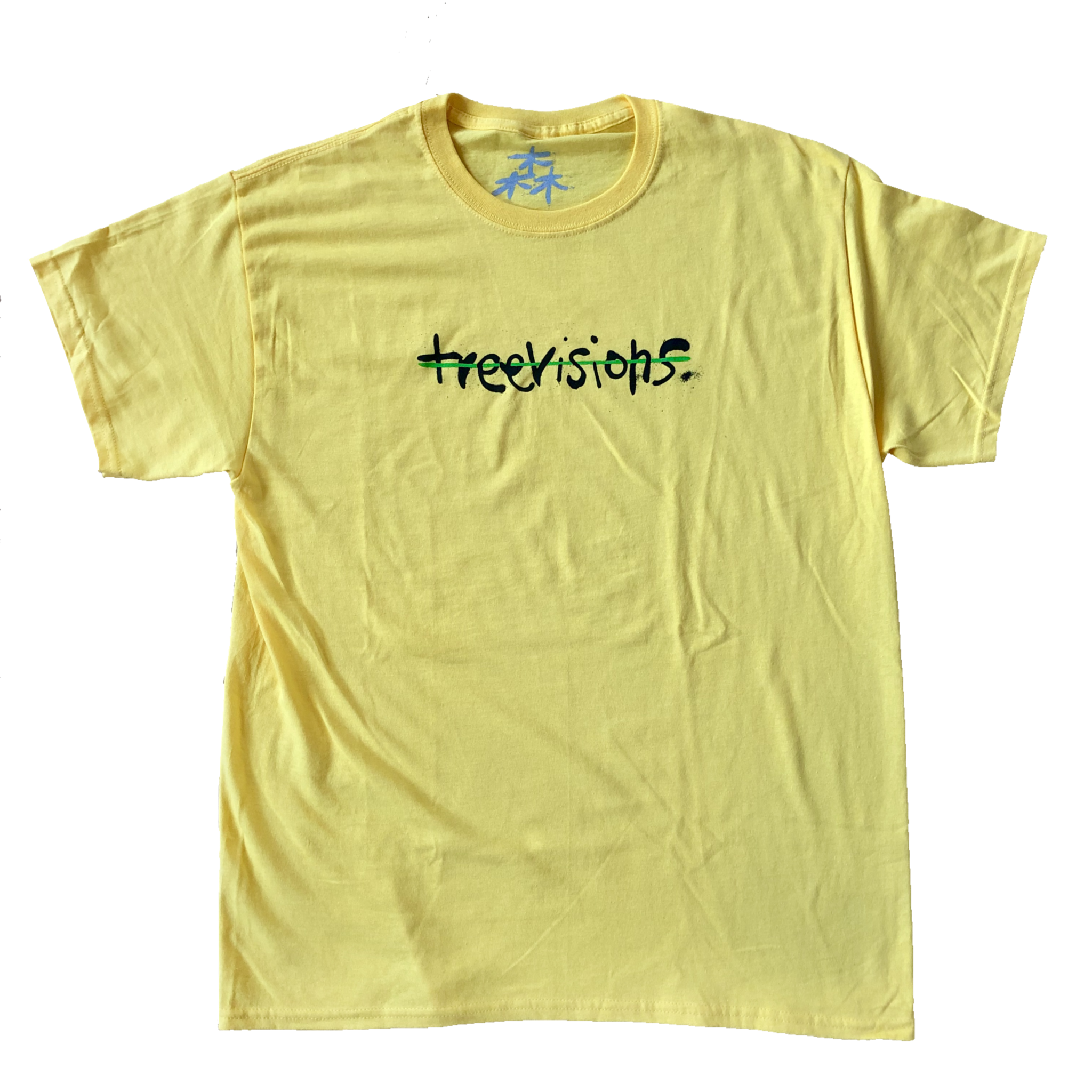 Treevisions Treevisions Line Yellow Tee