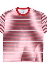 Polar Skate Co. Stripe Logo Tee Red