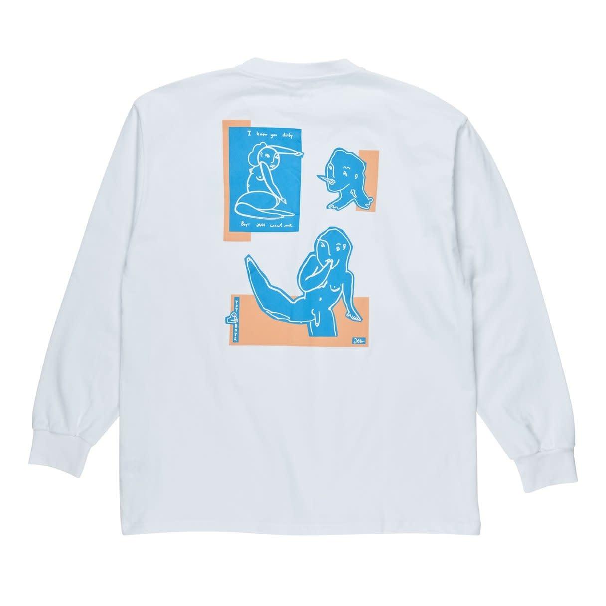 Polar Skate Co. Dirty Boys L/S White