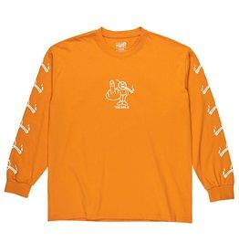 Polar Skate Co. Angry Stoner L/S Bright Orange